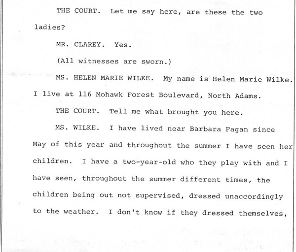 Helenmary Wilk and Sandra LaBombard (neighbors of Barbara Kurth)  Page 1 of 7