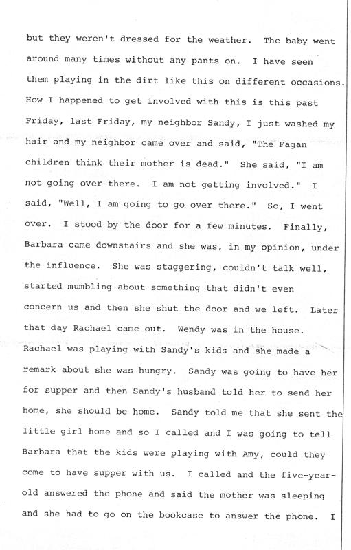 Helenmary Wilk and Sandra LaBombard (neighbors of Barbara Kurth)  Page 2 of 7