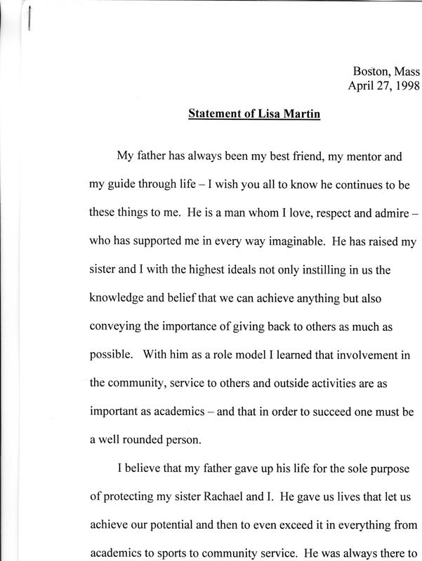 Lisa Martin's Statement 04/27/98 Page 1 of 3